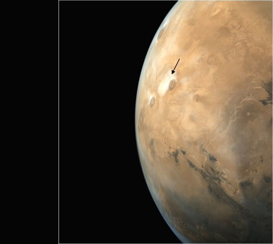 Mars disc imaged by MCC on Nov 9, 2017.  (Photo: IANS/ISRO)