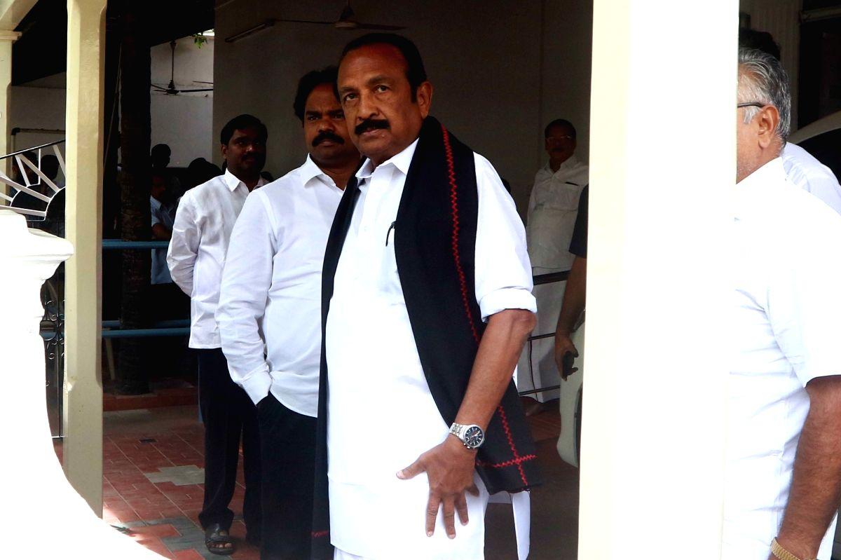 Marumalarchi Dravida Munnetra Kazhagam (MDMK) General Secretary Vaiko.