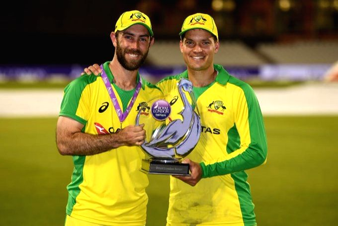 Maxwell, Carey power Australia to ODI series-win over England.