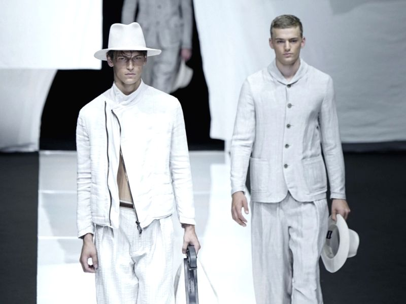 Models wearing Suits