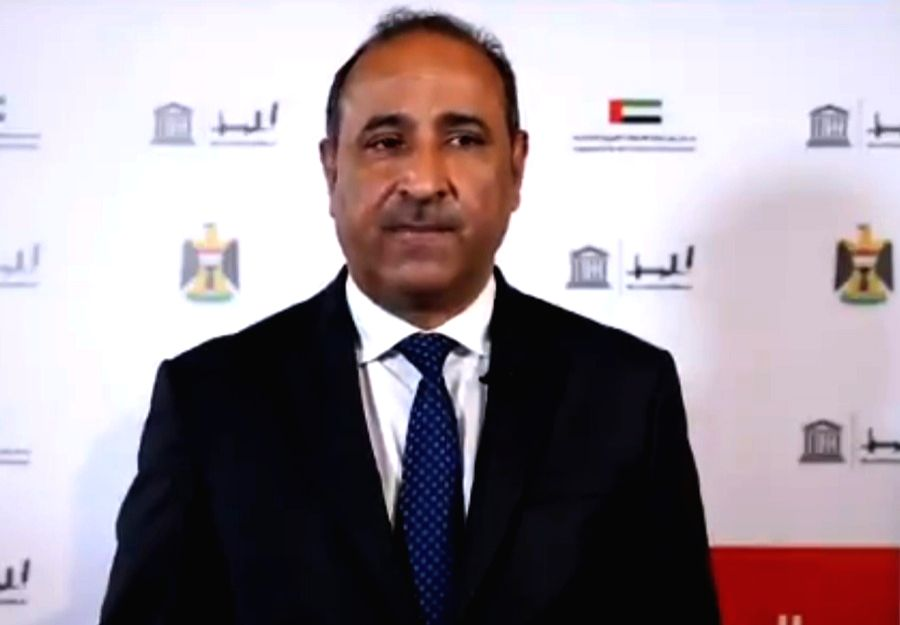 Minister of Culture, Tourism, and Antiquities Hassan Nadhim. (photo: UNESCO Iraq Office Twitter)