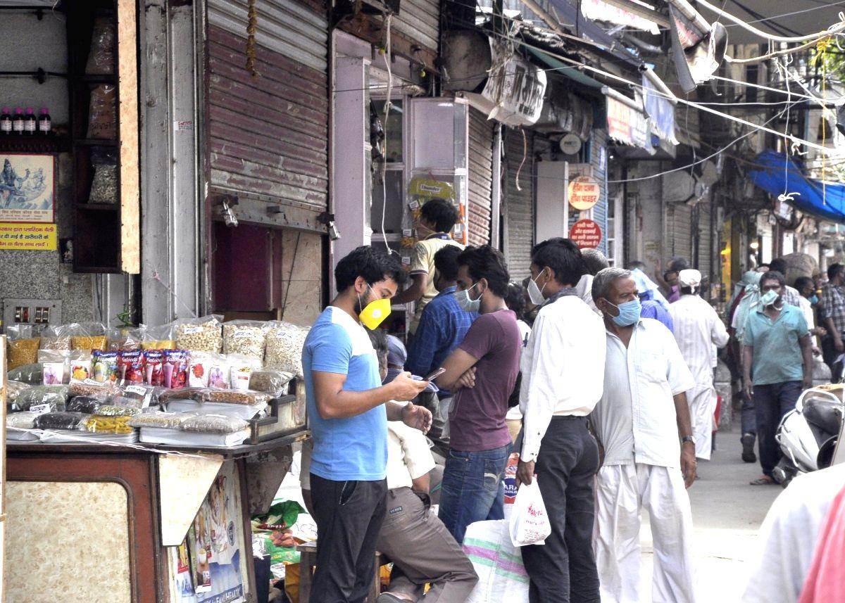 Missing hustle bustle in Delhi's Gandhinagar market.