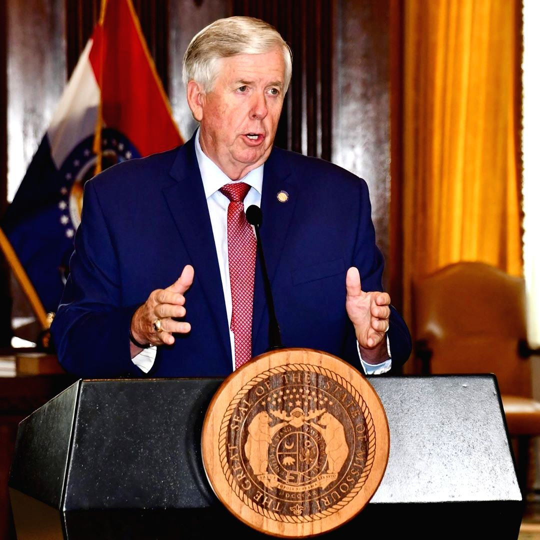 Missouri Governor Mike Parson.