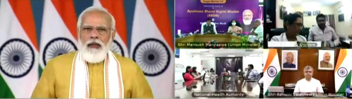 Modi launches Ayushman Bharat Digital Mission.