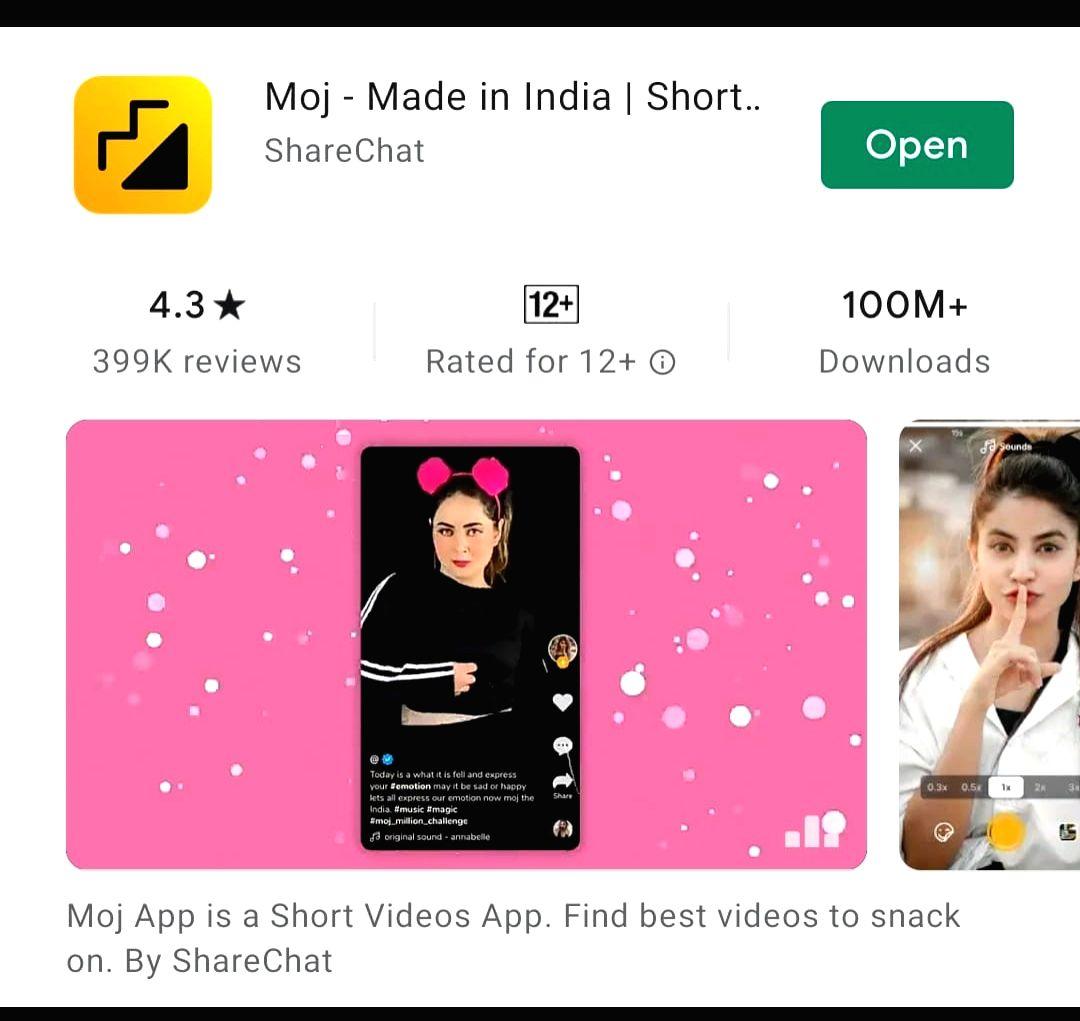 Moj surpasses 100mn downloads on Google Play Store (Credit: MOJ)