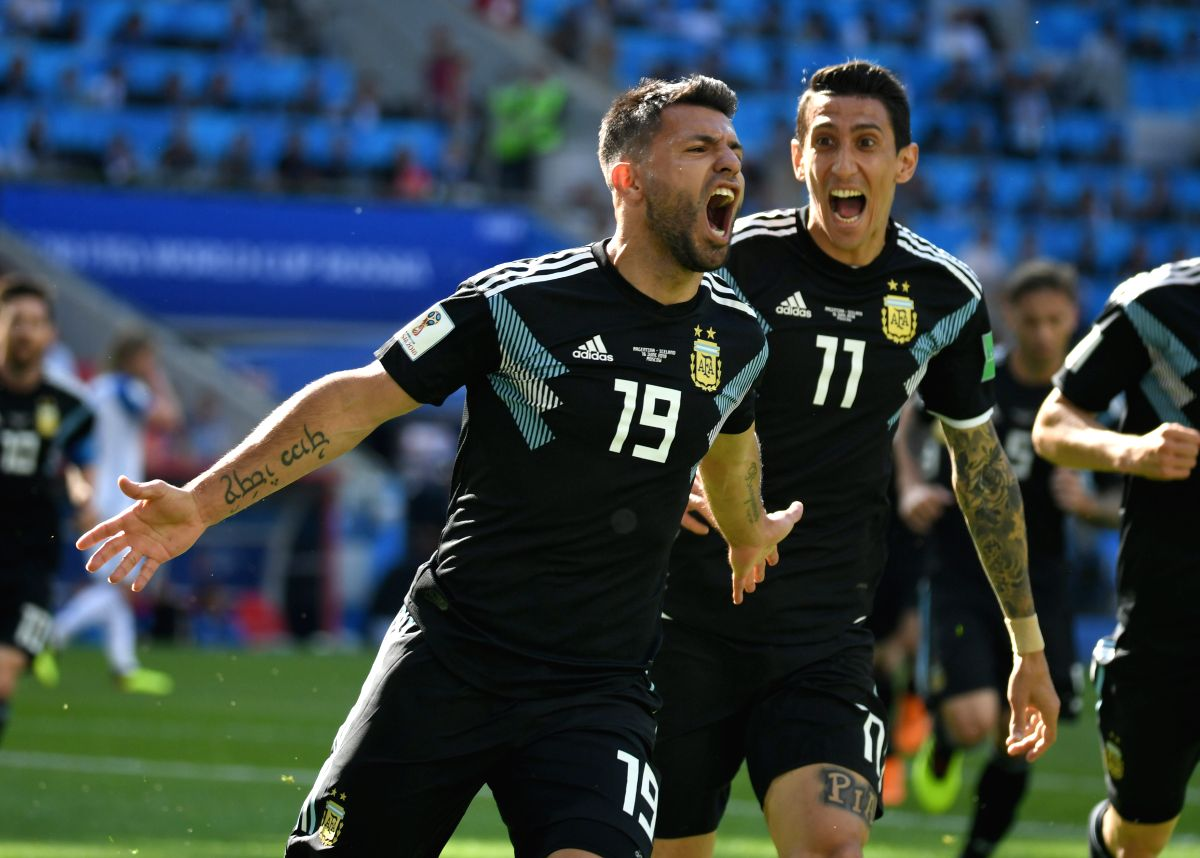 Sergio Aguero's 9th time was a charm as he scored his 1st goal at a World Cup in the match between Argentina and Iceland.