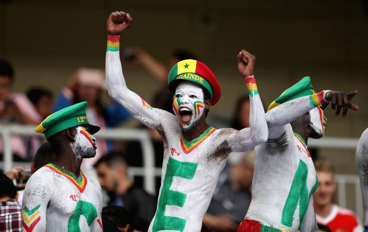 Fans shout Senegal Senegal!
