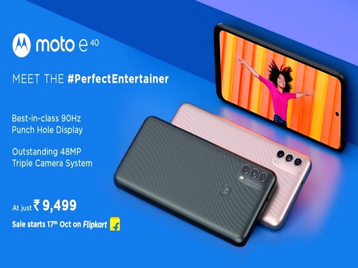 Moto E40 with 48MP camera launched in India at Rs 9,499.