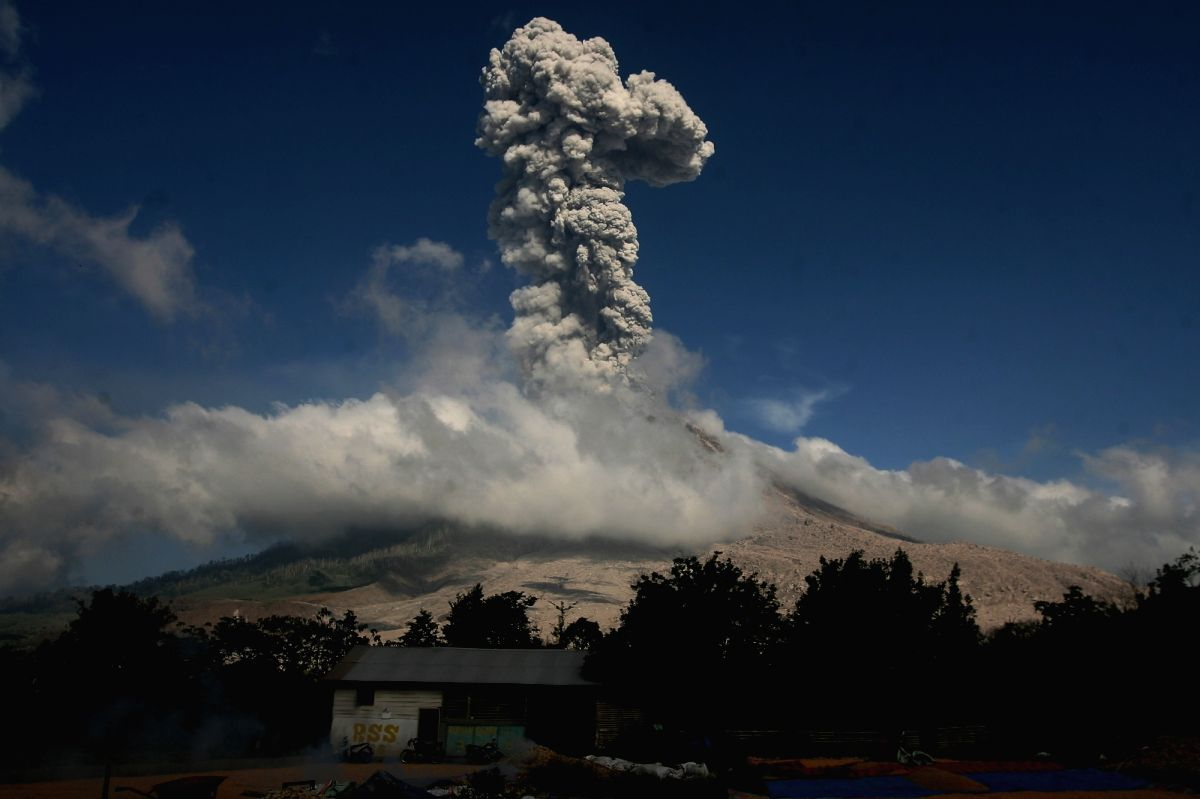 Mount Sinabung. (File Photo: Xinhua/YT Haryono/IANS)