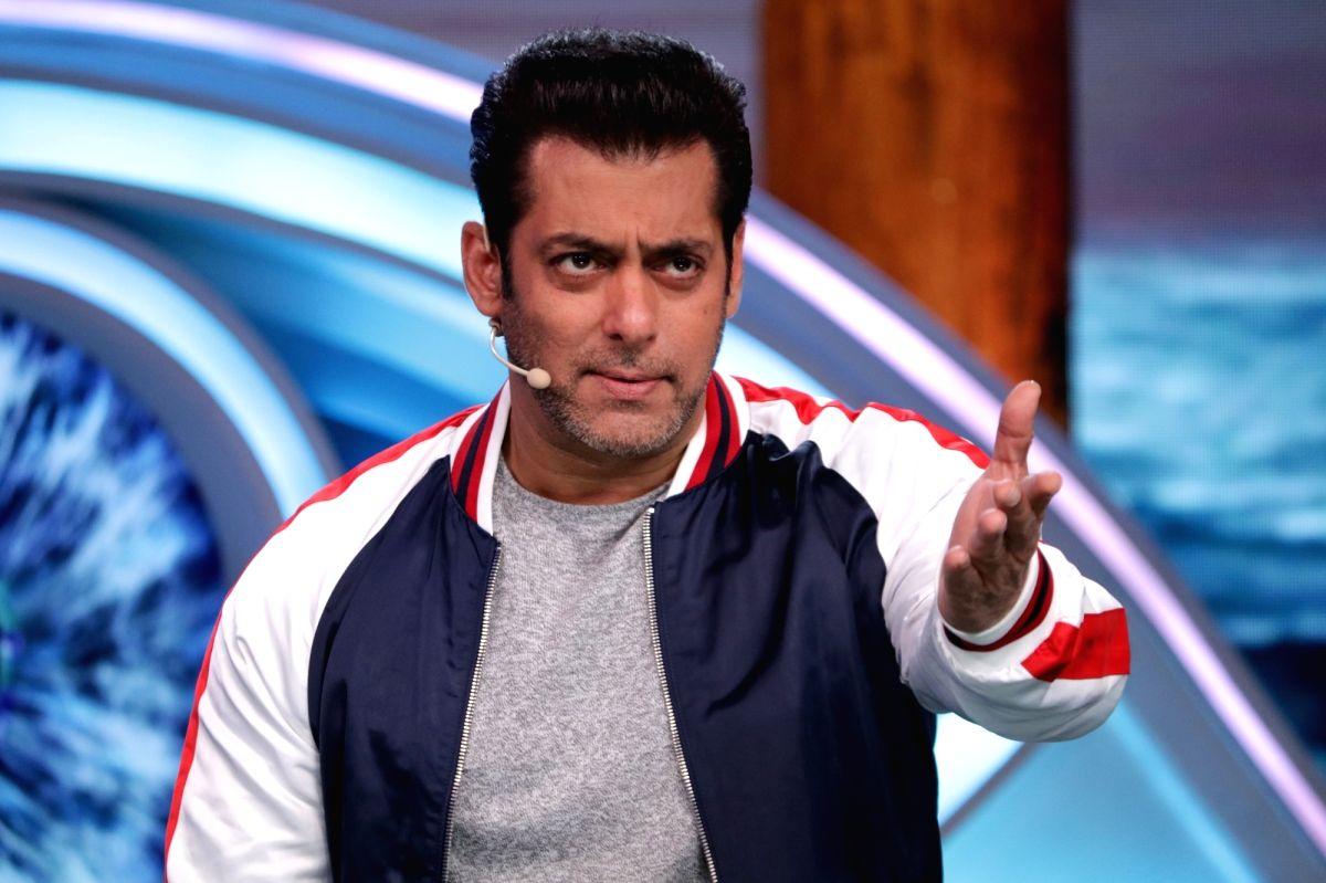 Mumbai: Actor and reality television show Big Boss Season 12 host Salman Khan on the sets of the show's 'Weekend Ka Vaar' episode in Mumbai on Nov 9, 2018.