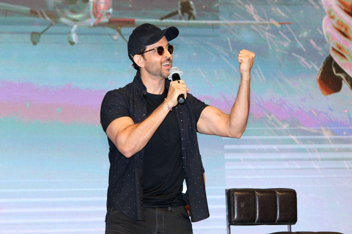 "Mumbai: Actor Hrithik Roshan during a press conference regarding film ""War"" in Mumbai on Oct 4, 2019."