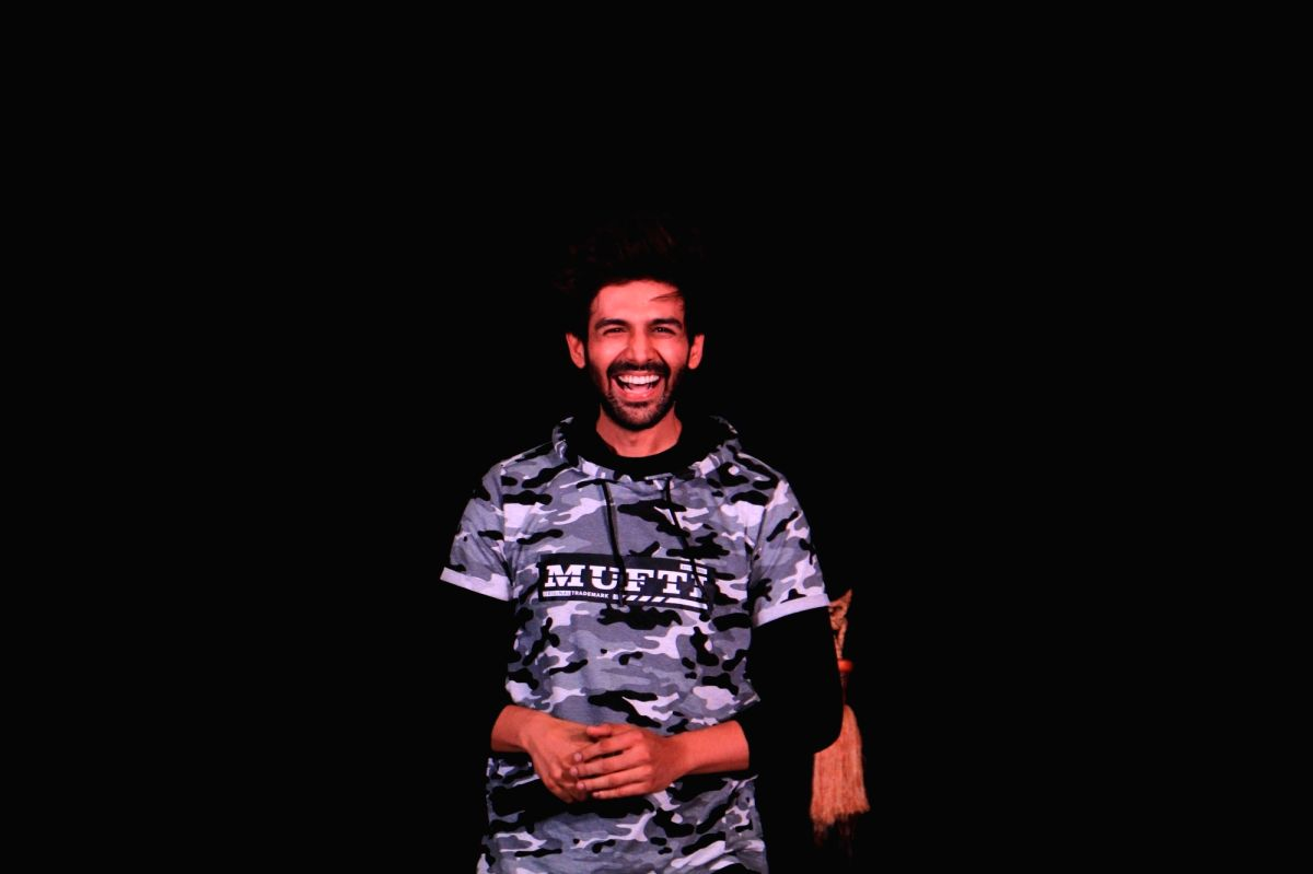 Mumbai: Actor Kartik Aryan at the launch of latest collection of a clothing brand in Mumbai on May 31, 2019.