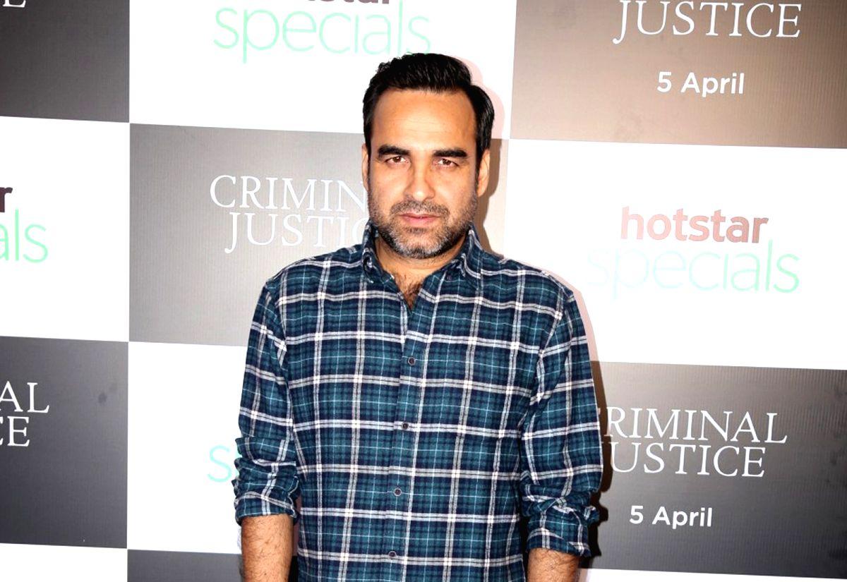 Mumbai: Actor Pankaj Tripathi at the special screening of his upcoming Hotstar Specials web series 'Criminal Justice' in Mumbai on April 2, 2019.
