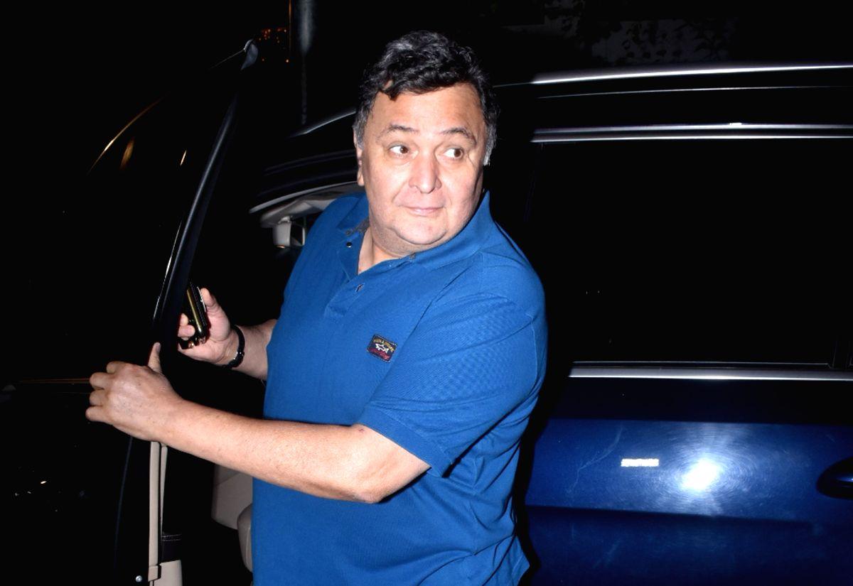 Mumbai: Actor Rishi Kapoor seen at Juhu in Mumbai on Nov 4, 2019.