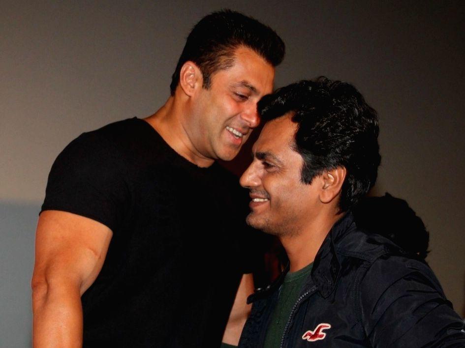 Actor Salman Khan and Nawazuddin Siddiqui