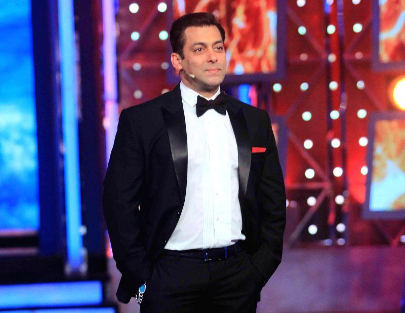 Actor Salman Khan on the sets Big Boss