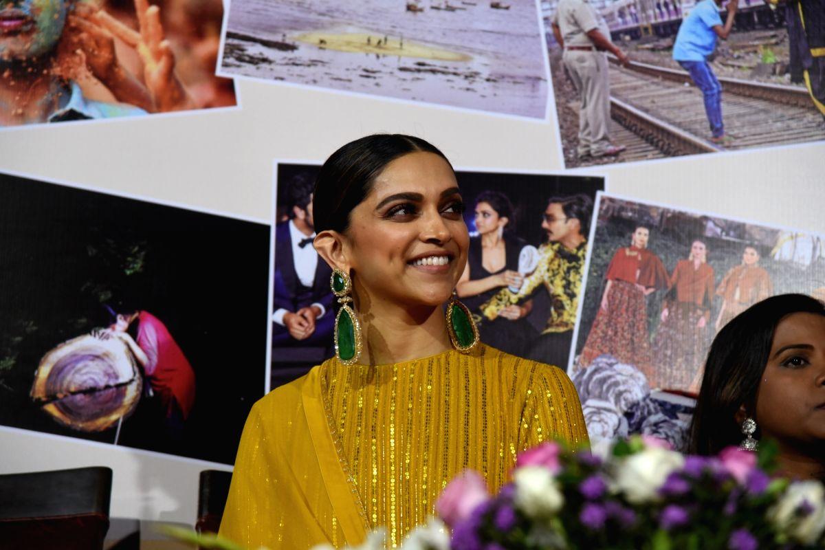 Mumbai: Actress Deepika Padukone during the Calendar launch and 'Photography Awards 2020' at Mumbai Press Club on Jan 12, 2020.