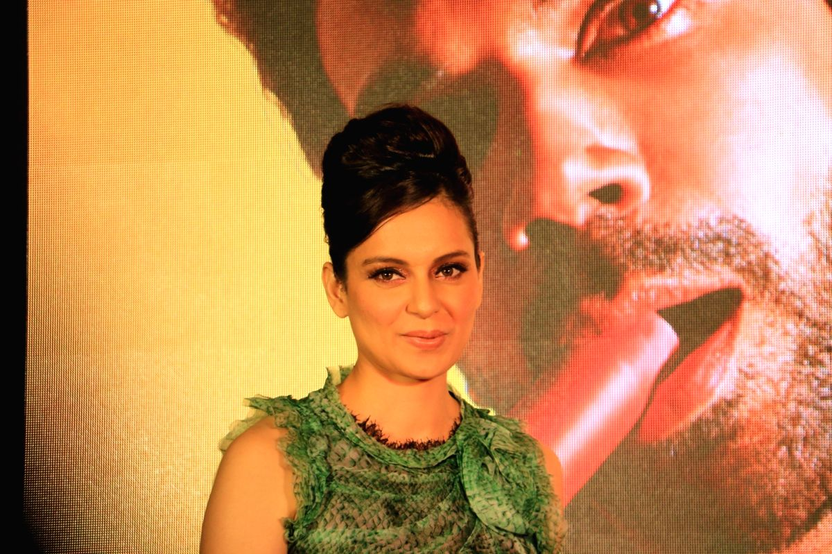"Mumbai: Actress Kangana Ranaut at the song launch of her upcoming film ""Judgemental Hai Kya"" in Mumbai, on July 7, 2019."