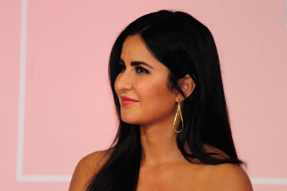 Actress Katrina Kaif at the launch of her make-up line Kay Beauty in collaboration with sothern superstar Nayanthara
