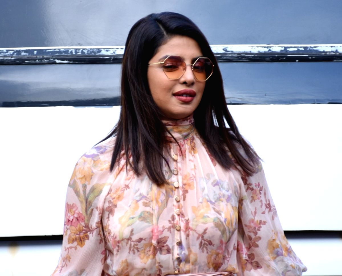 "Actress Priyanka Chopra during the promotions of her upcoming film ""The Sky Is Pink"""