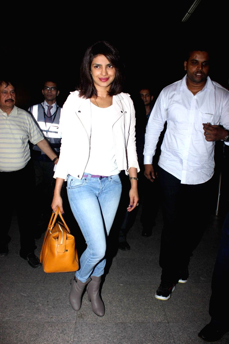 This airport look by Priyanka Chopra definitely tops our list. The boots are simply to die for!