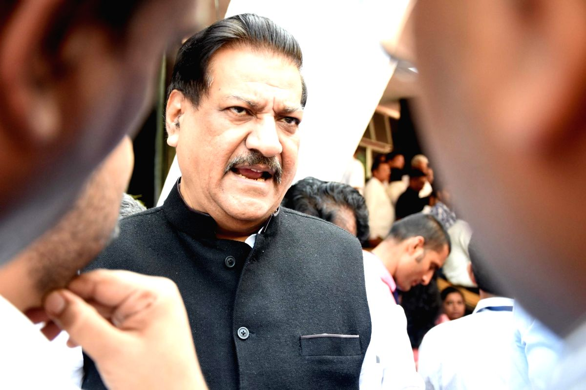 Mumbai: Congress MLA Prithviraj Chavan arrives to take oath as MLA in Mumbai on Nov 27, 2019.