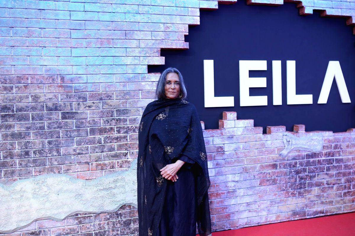 """Mumbai: Director Deepa Mehta at the screening of her Netflix show """"Leila"""", in Mumbai on June 7, 2019."""