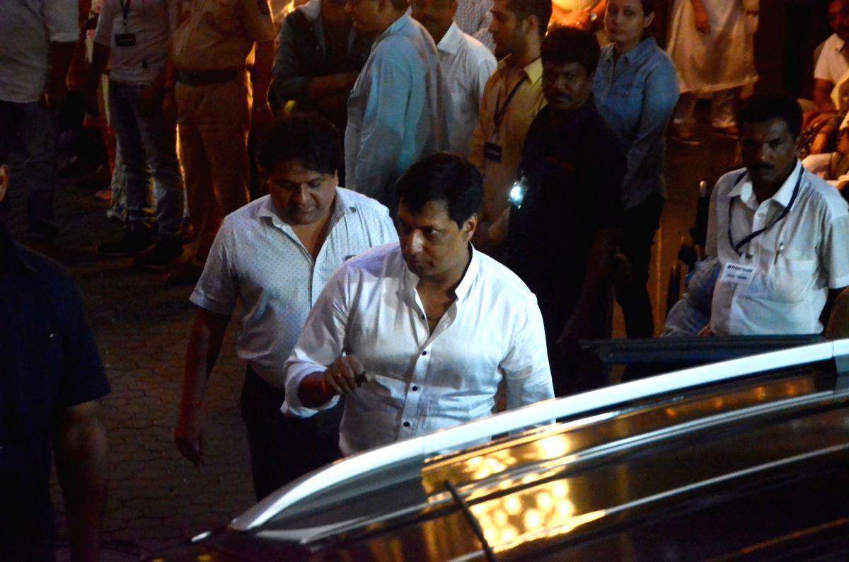 Mumbai: Director Madhur Bhandarkar arrives to attend Late actor Shashi Kapoor's condolence meeting in Mumbai on Dec 7, 2017.