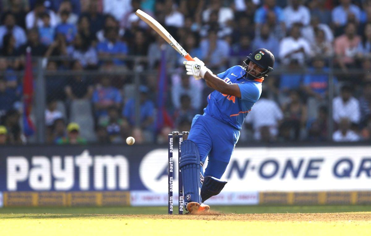 Mumbai: India's Rishabh Pant in action during the first ODI between India and Australia at the Wankhede Stadium in Mumbai on Jan 14, 2020. (Photo: Surjeet Yadav/IANS)