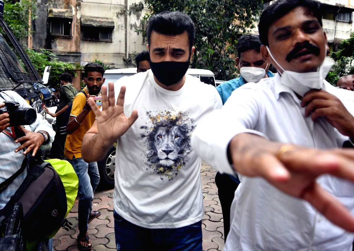 Mumbai:- Porn film issue in Bollywood actress Shilpa Shetty husband Raj Kundra in Crime Branch last few days arrested in Mumbai. (Photo by  Sandeep Mahankal /IANS)