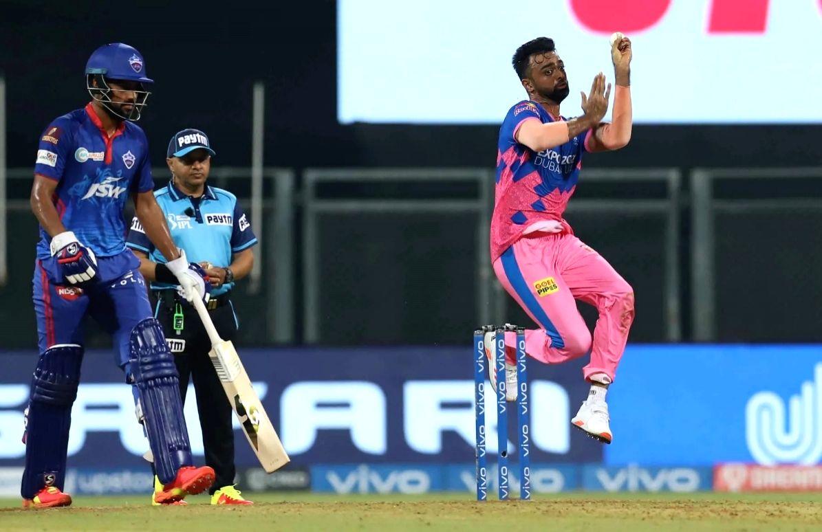 Mumbai : Rajasthan Royals (RR) left-arm pace bowler Jaydev Unadkat. (Credit : BCCI/IPL) (Not for sale)