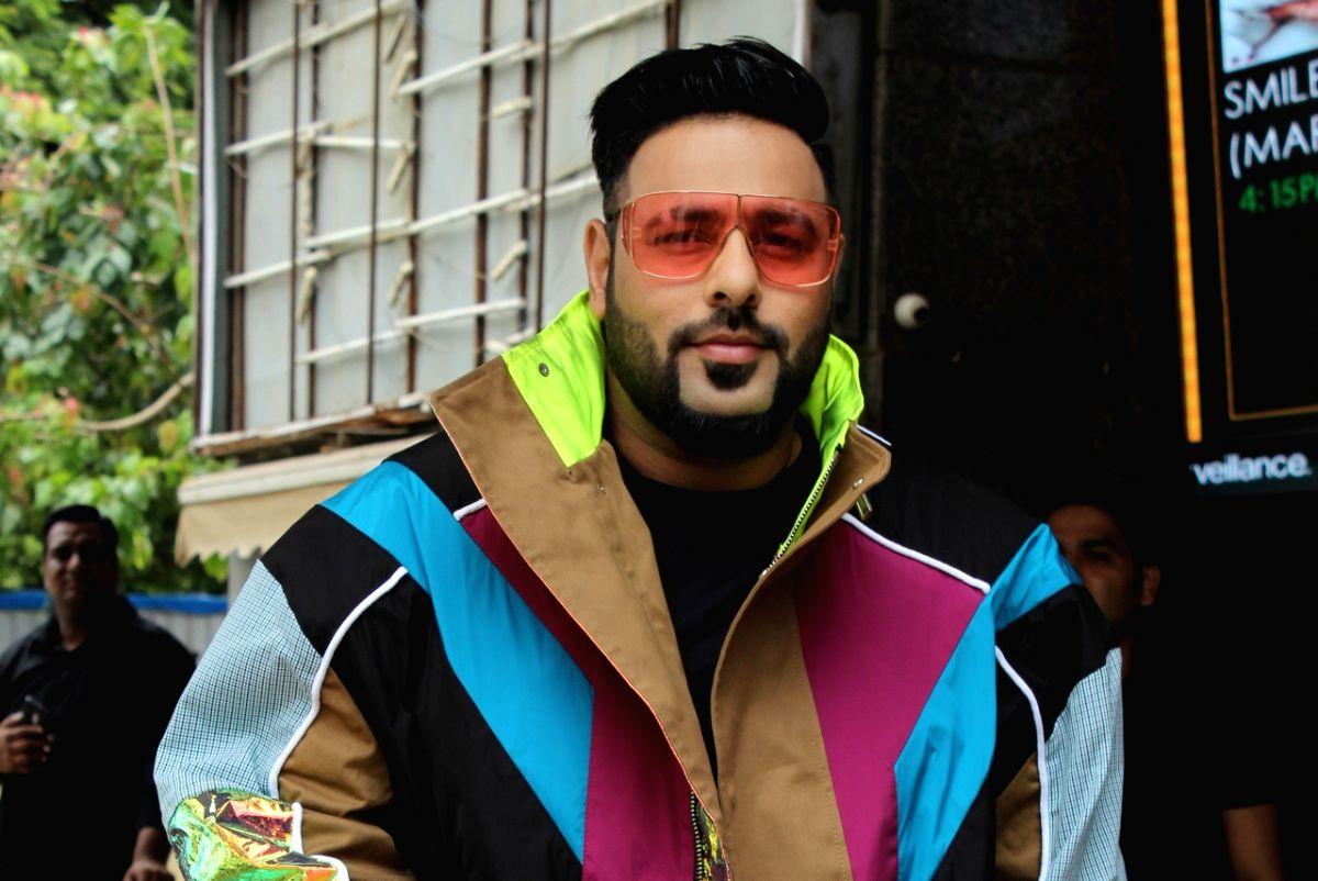 "Mumbai: Rapper Badshah at the trailer launch of his upcoming film ""Khandaani Shafakhana"", in Mumbai on July 22, 2019."