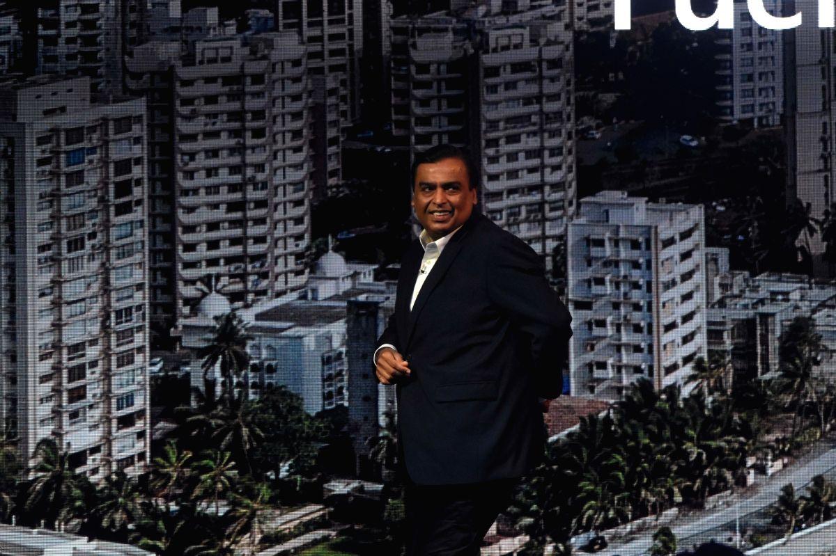 Mumbai: Reliance Industries Ltd. (RIL) Chairman and Managing Director Mukesh Ambani at the Microsoft CEO Summit in Mumbai on Feb 24, 2020.