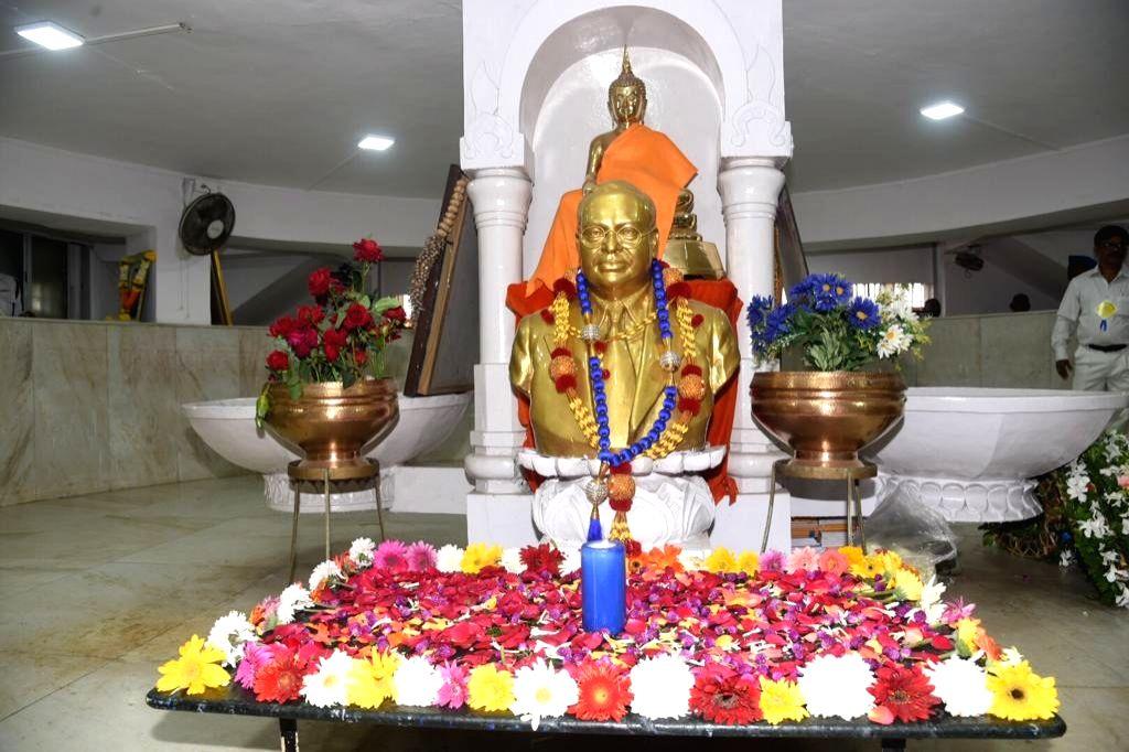 Mumbai: The bust of Dr B.R. Ambedkar at Chaityabhoomi in Dadar, Mumbai on Dec 6, 2019.