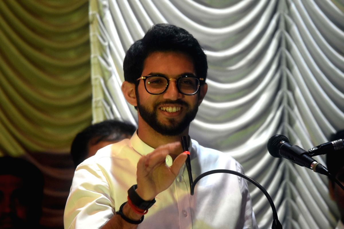 Mumbai: Yuva Sena chief Aaditya Uddhav Thackeray announces that he would be contesting the October 21 Maharashtra Assembly elections from the Worli constituency in south-central Mumbai during a programme in Mumbai on Sep 30, 2019.