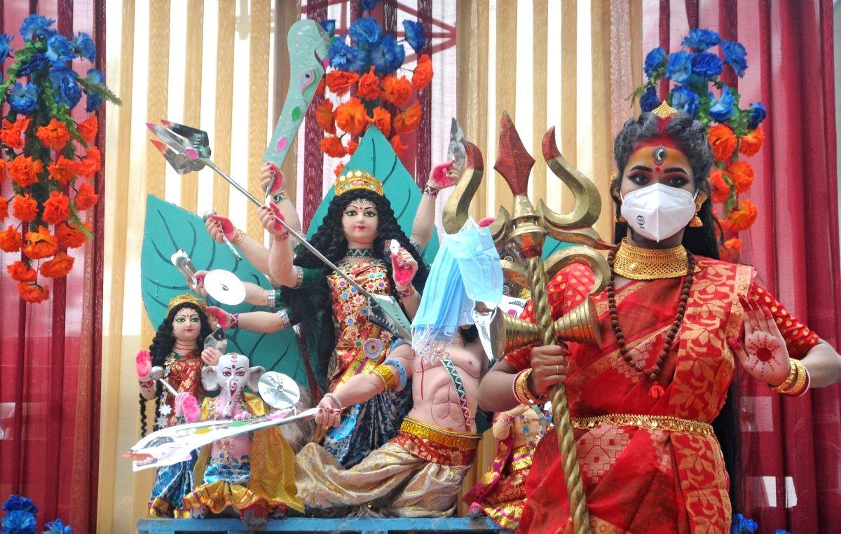 Muted Durga Puja celebrations in Delhi under Covid shaddow