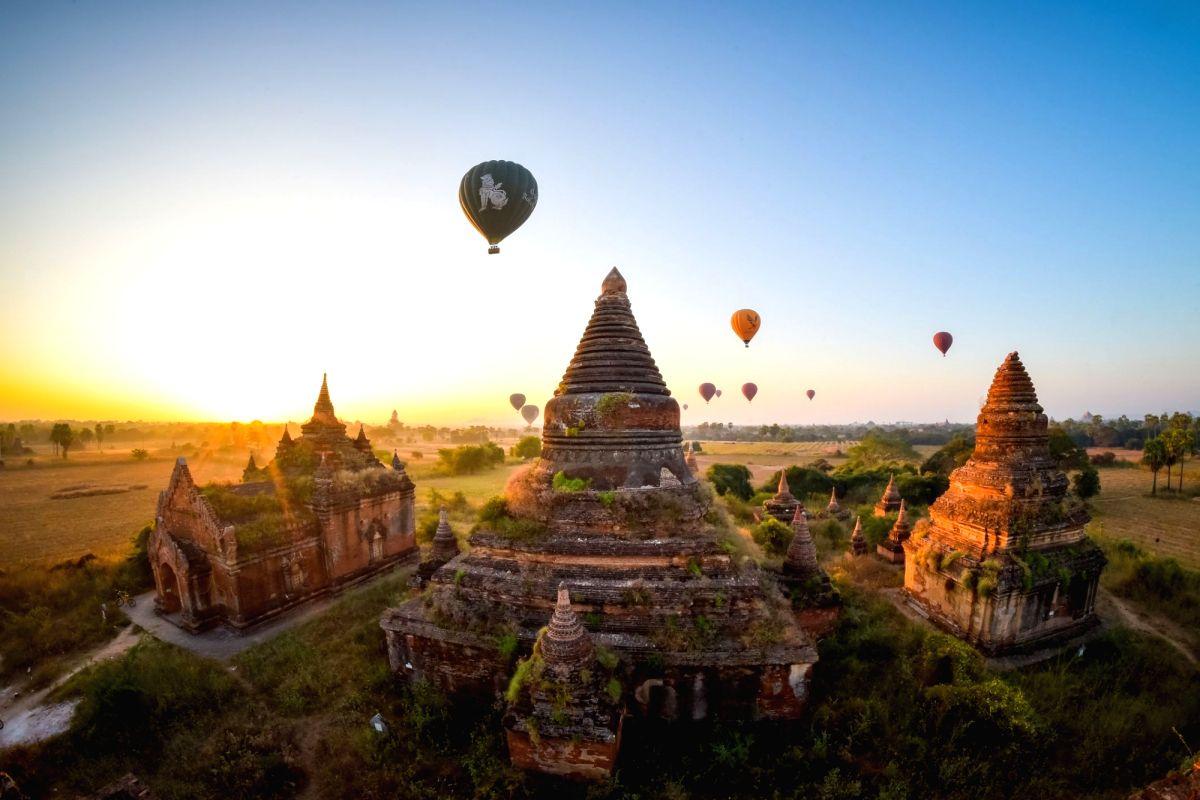 Myanmar's tourist hot-spot Bagan.