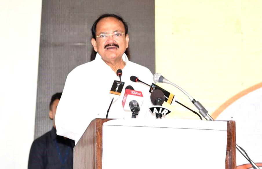 Mysuru: Vice President M. Venkaiah Naidu addresses at the golden jubilee celebrations of the Central Institute of Indian Languages (CIIL) in Mysuru, Karnataka on July 13, 2019. (Photo: IANS/PIB)