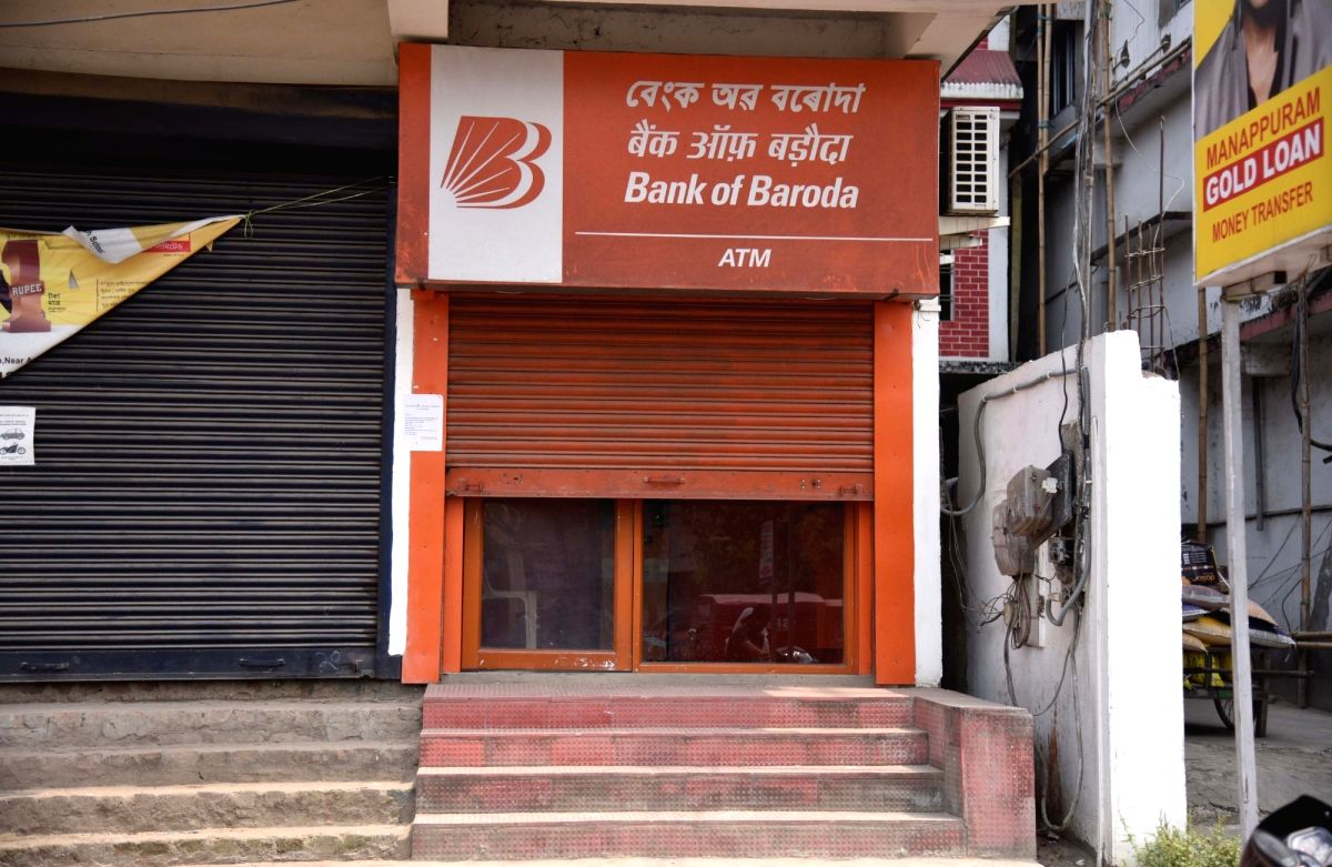 Nagaon: An ATM that ran out of cash, in Assam's Nagaon district on April 17, 2018. Currency shortage was reported in Andhra Pradesh, Telangana and Madhya Pradesh in the past few weeks. There were also complaints of shortage in parts of Maharashtra, G