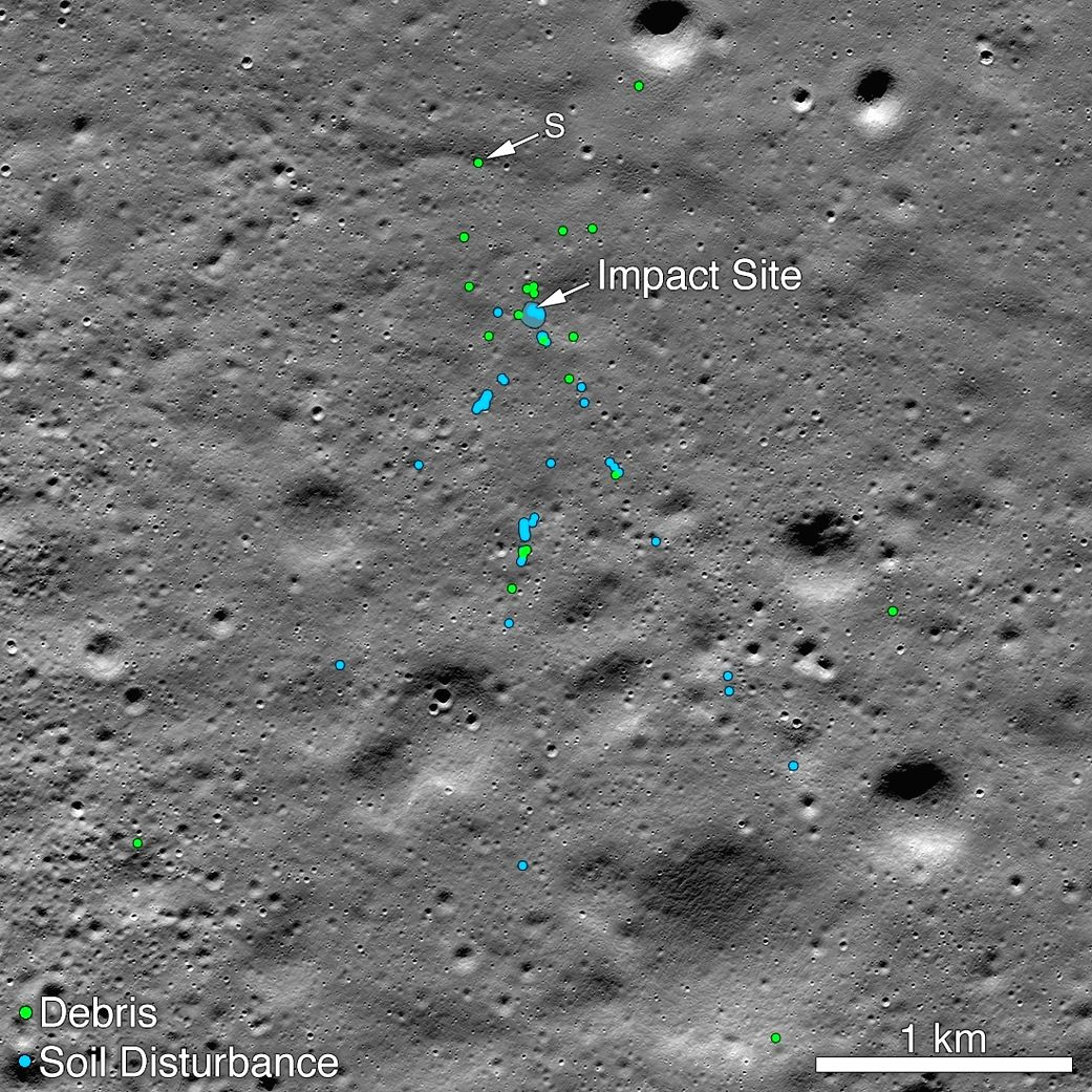 NASA released a picture taken before Vikram moonlander crashed on the moon shows the area with the soil undisturbed.