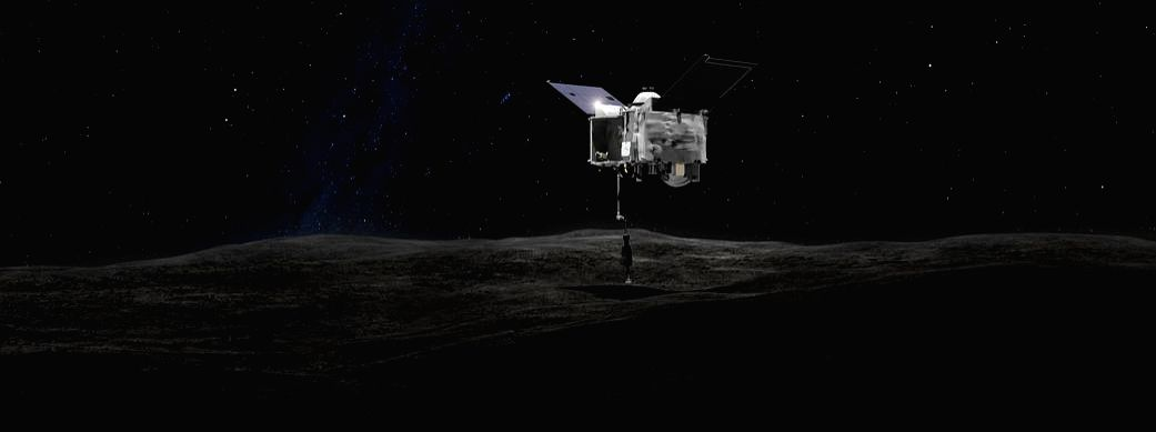 NASA's Origins, Spectral Interpretation, Resource Identification, Security, Regolith Explorer spacecraf  (Credit : *NASA's Goddard Space Flight Center)*