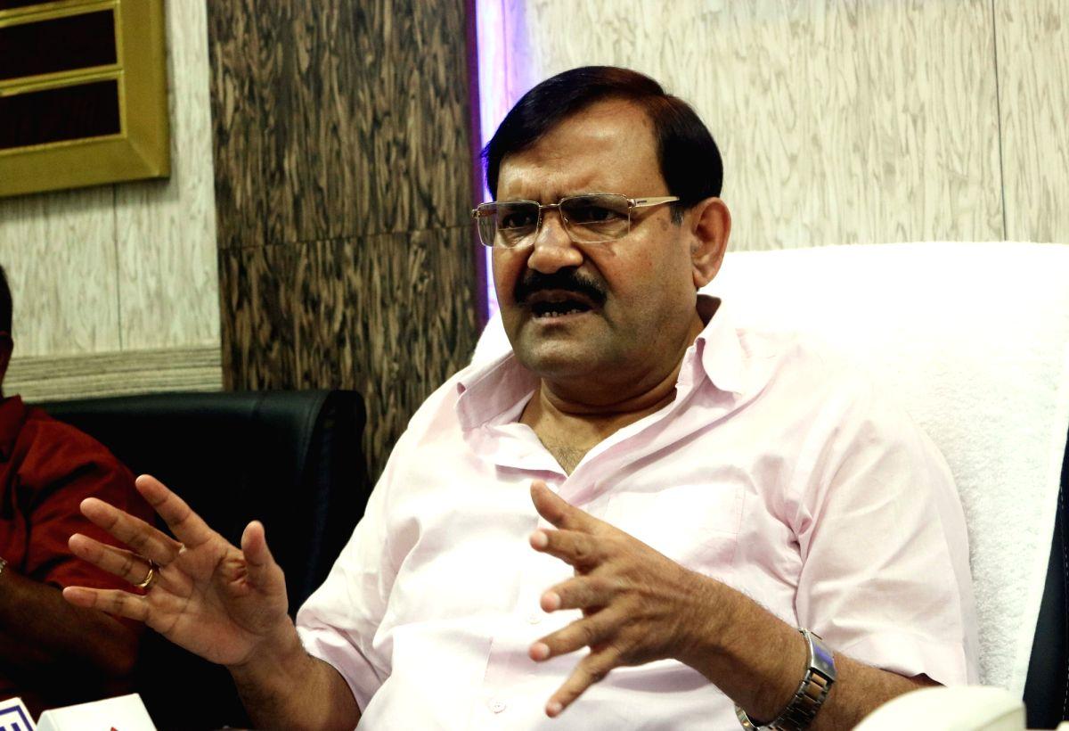 NDMC vice-chairman Karan Singh Tanwar addresses a press conference in New Delhi on Aug 2, 2016.
