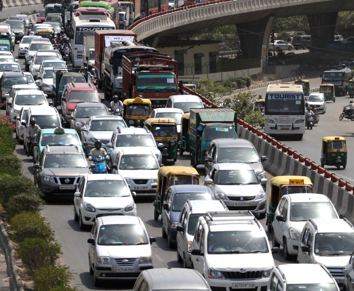 New Delhi:  A view of Delhi traffic after the second phase of odd-even traffic scheme concluded on 30th April, 2016; in New Delhi on May 2, 2016.