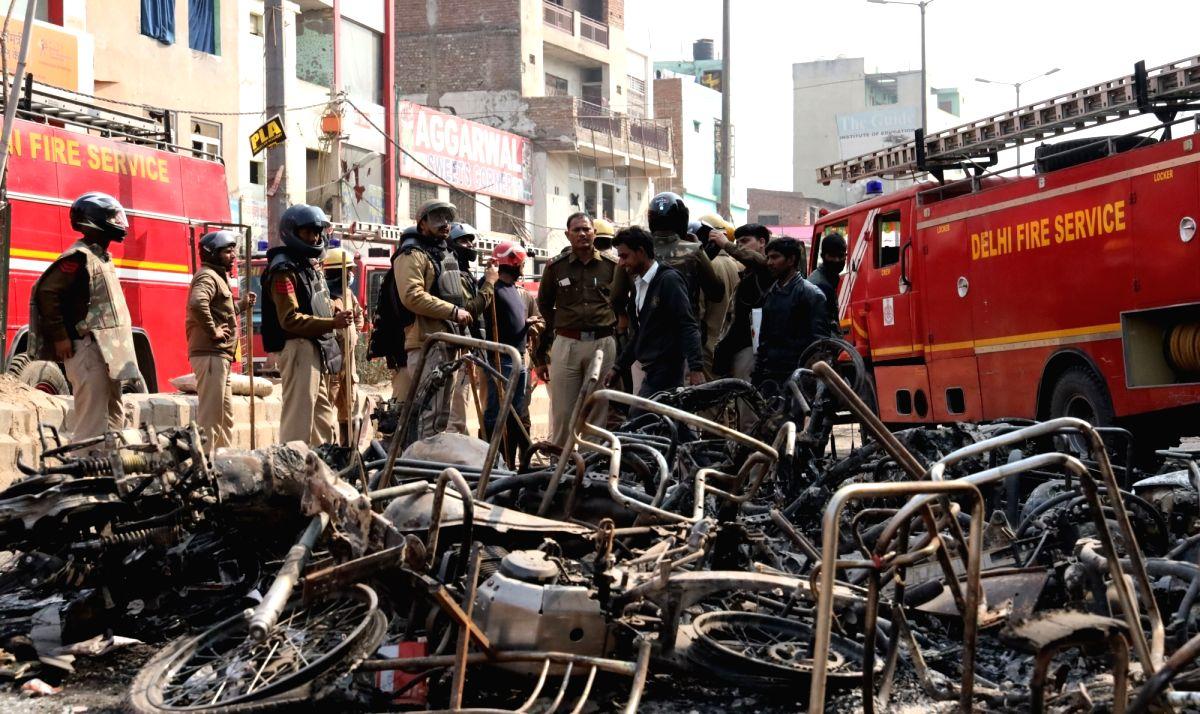 New Delhi: A view of Northeast Delhi's Karawal Nagar after the riots, on Feb 26, 2020. (Photo: Bidesh Manna/IANS)