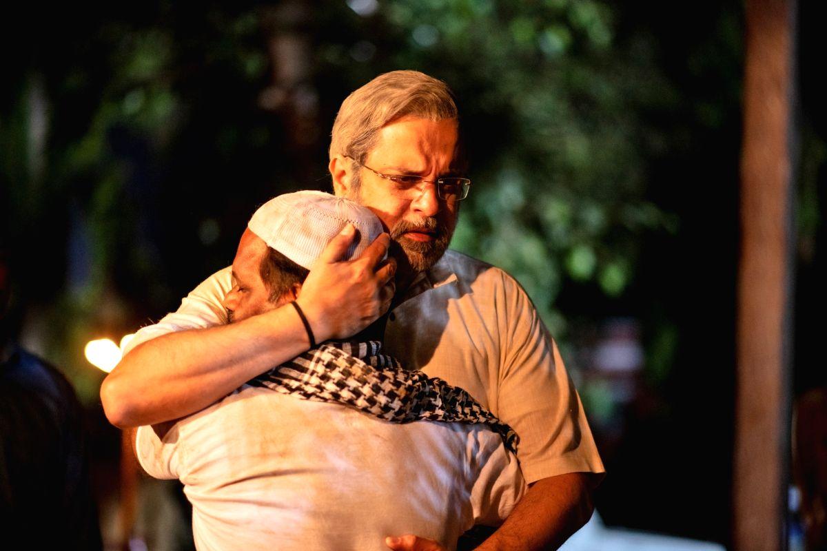 "New Delhi: Actor Mahesh Thakur depicts as Prime Minister Narendra Modi during the shooting of the upcoming web series on Prime Minister Narendra Modi's life ""Modi: The Journey Of A Common Man""."