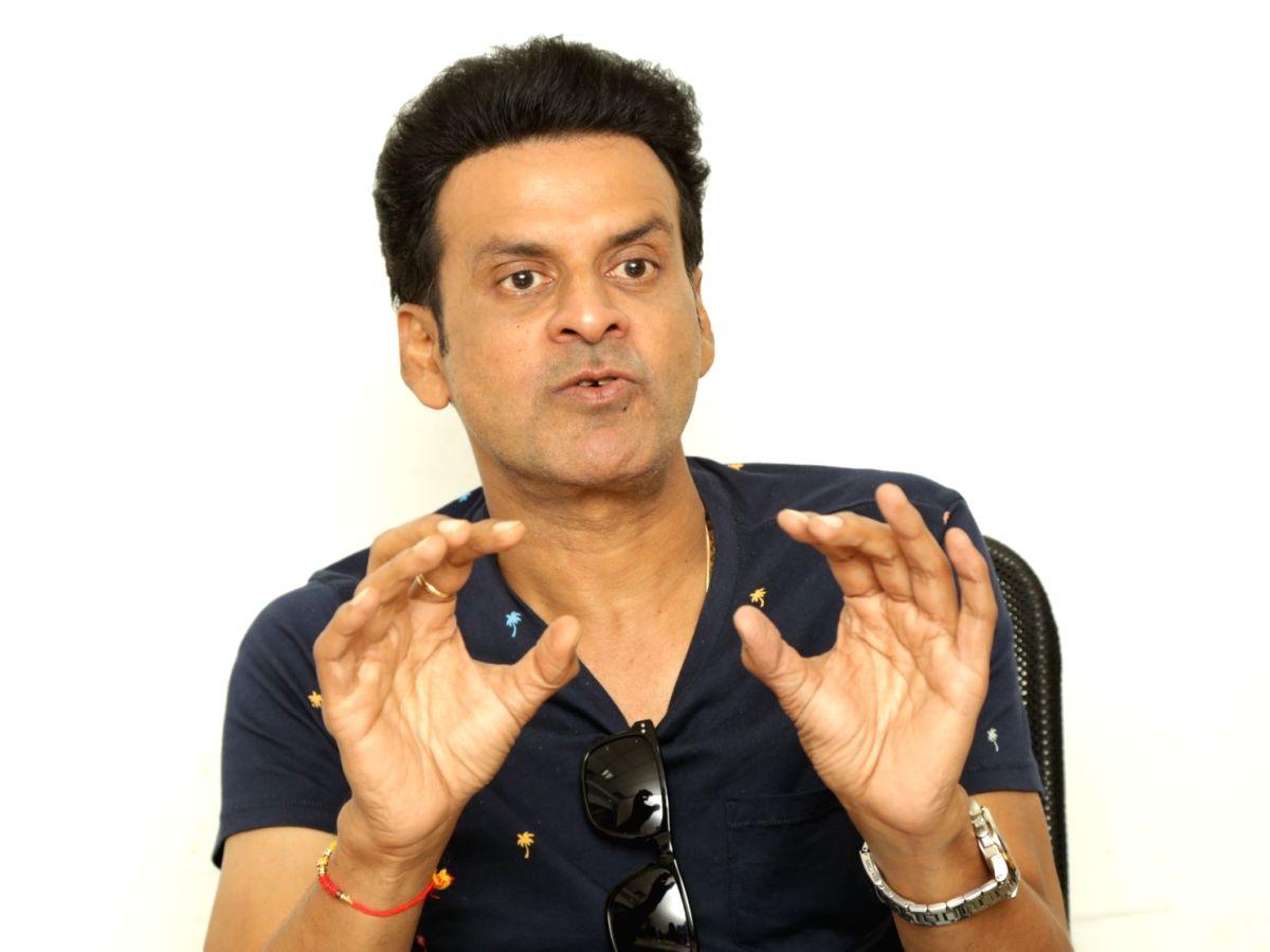 New Delhi: Actor Manoj Bajpayee during an interaction at IANS Office in New Delhi, on Aug 31, 2018. (Photo: Amlan Paliwal/IANS)