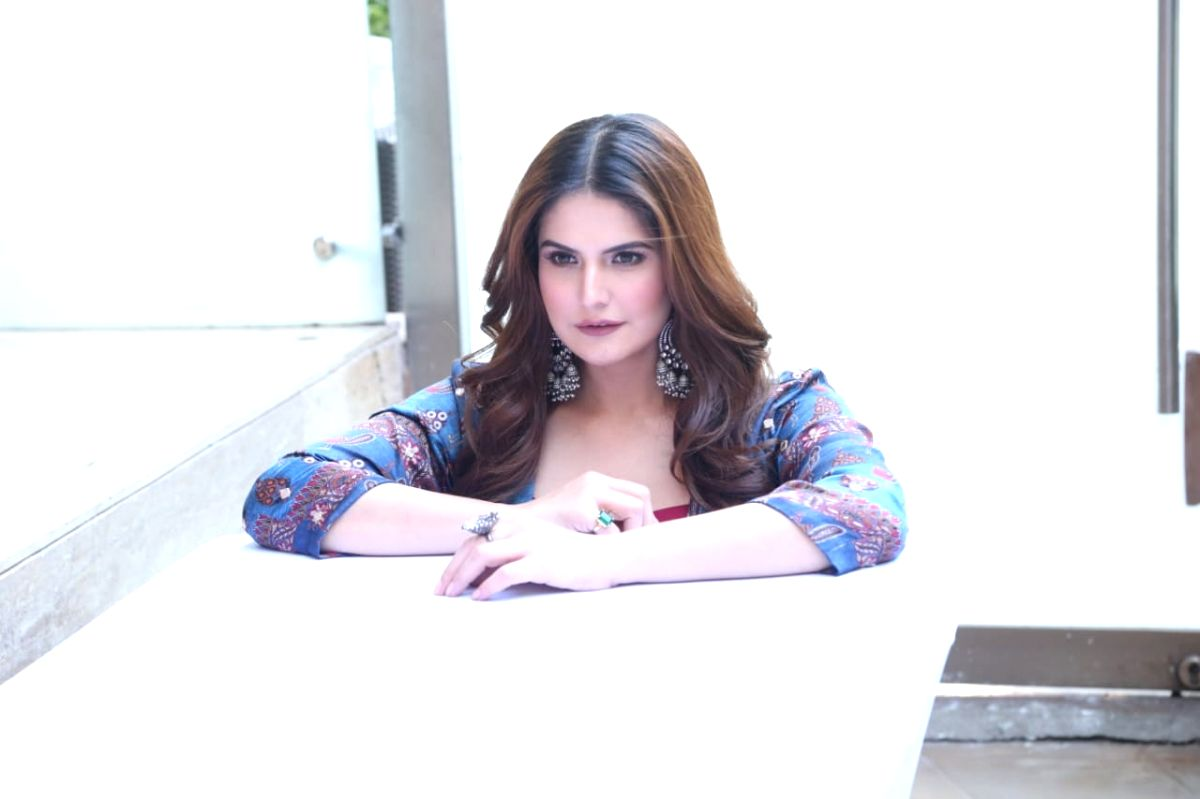 "New Delhi: Actress Zareen Khan during the promotions of her upcoming film ""Daaka"" in New Delhi on Oct 24, 2019."