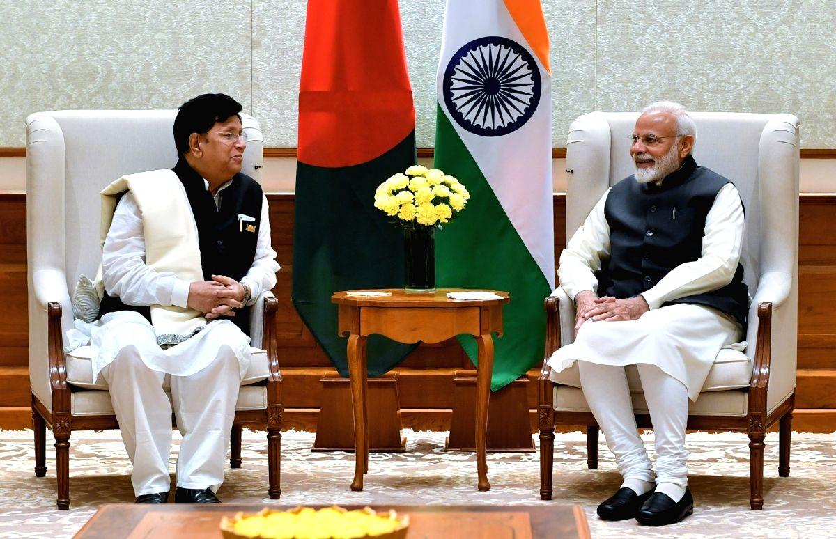 New Delhi: Bangladesh Foreign Affairs Minister A.K. Abdul Momen calls on Prime Minister Narendra Modi in New Delhi, on Feb 7, 2019. (Photo: IANS/PIB)