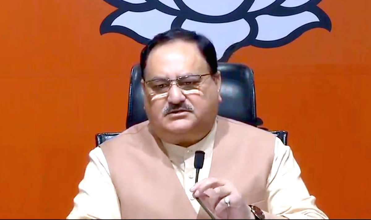 New Delhi: BJP working president J.P. Nadda addresses a press conference on Jharkhand Assembly Election 2019 at BJP headquarters in New Delhi on Nov 10, 2019.