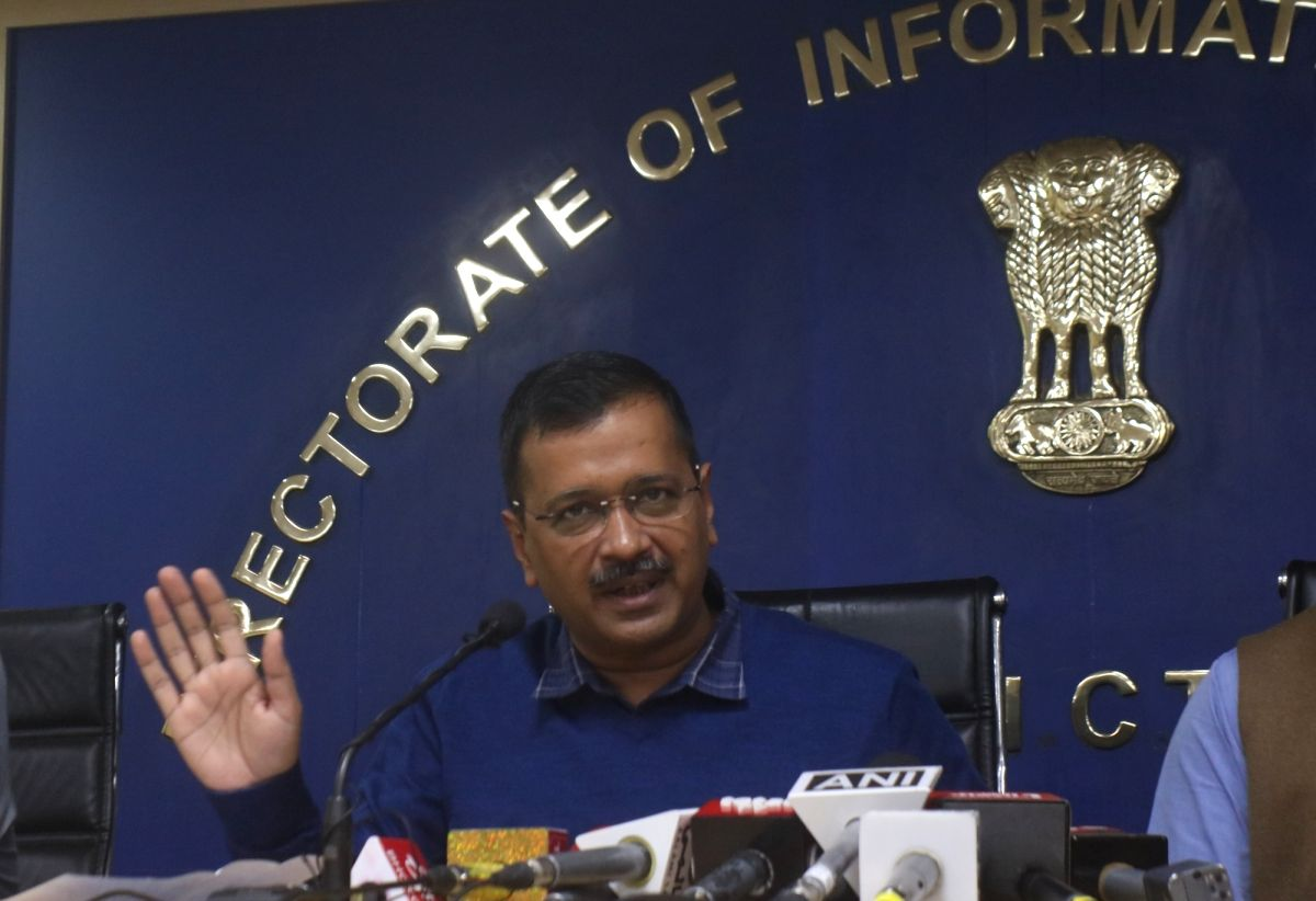 New Delhi: Delhi Chief Chief Minister Arvind Kejriwal addressing a press conference to announce Chief Minister Advocate Welfare Fund in New Delhi on Nov. 29, 2019.